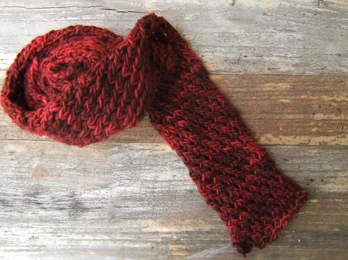 Diagonal Knot Stitch Scarf 2