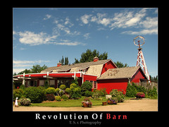 Barn Revolution (Thushan S. Withana-Gamage) Tags: trip travel roof red vacation sky canada tree mill windmill shop clouds barn garden restaurant berry bravo country explore redbarn giftshop westerncanada blueribbonwinner berrybarn flickrsbest mywinners aplusphoto superbmasterpiece ysplix
