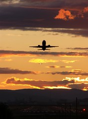 Burning Fire (vector1771 (Hangar71.com / Aviationintel.com)) Tags: sunset sky clouds plane airport aircraft jet pdx takeoff runway airliner onlythebestare