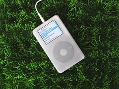 Ipod in the grass