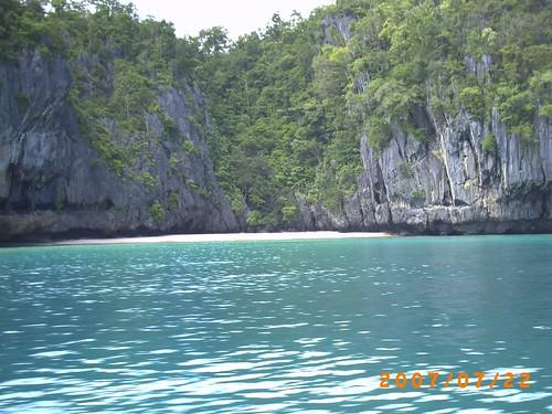 Hermosa vista del paisajes del Parque Nacional del Rï Subterraneo de Puerto Princesa