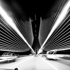 (brianchapman) Tags: sanfrancisco blackandwhite oakland baybridge incar longexpsoure adoublefave