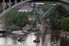 I-35W Bridge Collapse(6) (Poppyseed Bandits) Tags: bridge news unitedstates photojournalism minneapolis disaster collapse emergency mn 35w breakingnews takenbyjeff i35w bridgecollapse summer2007 minnesotabridgecollapse minneapolisbridgecollapse 35wbridgecollapse