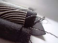 frayed (a thousand black dreams) Tags: bw print handmade sewing fabric cotton charcoal stacked edges frayed piled cashmerewool