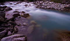 Blue Little Su (code poet) Tags: longexposure nature water topv111 rock alaska river landscape rocks eau 100v10f matsu 1022mm littlesuriver littlesu