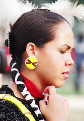 Native American Beauty (catface3) Tags: girl beauty washingtondc dc feathers nativeamerican earrings braids brunette catface3
