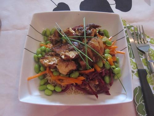Chicken Dragon ball salad at Caroline's