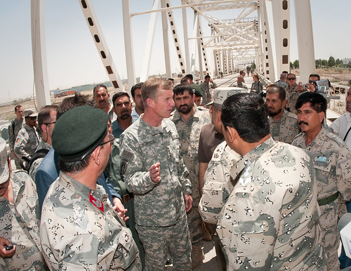 Visiting with Afghan Border Police