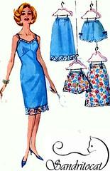 S4218 gallery (sandritocat) Tags: panties vintage pattern sewing lingerie international 1950s collectible supplies fullslip paperephemera halfslip freeshipping simplciity4218