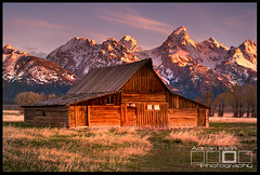 Built To Last - Moulton Barn on Mormon Row (Adrian Klein) Tags: mountains barn sunrise canon nationalpark wyoming teton gitzo alpenglow moulton mormonrow adrianklein
