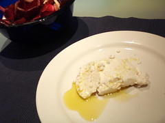 Sheep ricotta with Leccino olive oil