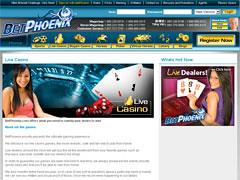 Bet Phoenix Live Casino Lobby