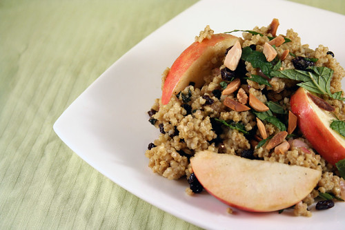 Warm Millet and Apple Salad with Curry Dressing