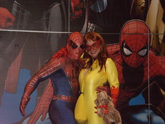 Spider-Man and Firestar (pikaman206) Tags: new york 2 anime festival day cosplay spiderman comiccon firestar 2010