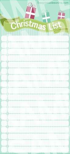 Print those Christmas Shopping Lists Kids  Free Printables Online
