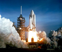 1981 ... Shuttle launch number one- Columbia (x-ray delta one) Tags: mars illustration vintage mercury space astronaut columbia nasa 1950s skylab scifi lifemagazine 1981 1960s outerspace tomorrowland apollo spaceshuttle gemini mir cosmonaut vostok thefuture aerospace cccp saturnv sts soyuz worldoftomorrow spacerace spaceexploration magazineillustration wernervonbraun robertmccall chesleybonestell willieley