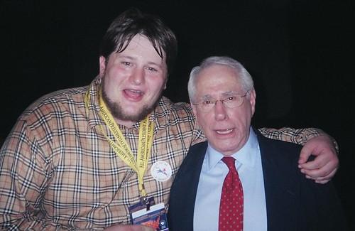 Sam with Fmr. Sen. Mike Gravel (D-Alaska)
