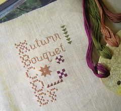 Autumn Bouquet (costureraloca) Tags: de punto cross stitch cruz