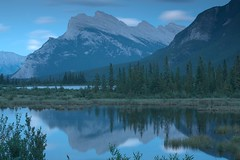 Mt. Rundle, Banff NP (agsaran) Tags: travel mountain lake canada reflection landscape nationalpark alberta banff mountrundle natrue banffnationalpark