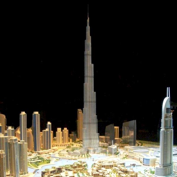 1 - Burj Dubai in Dubai, 515 m