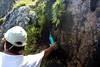 Dans la traversée du versant Scaffone : source et eau de ruissellement