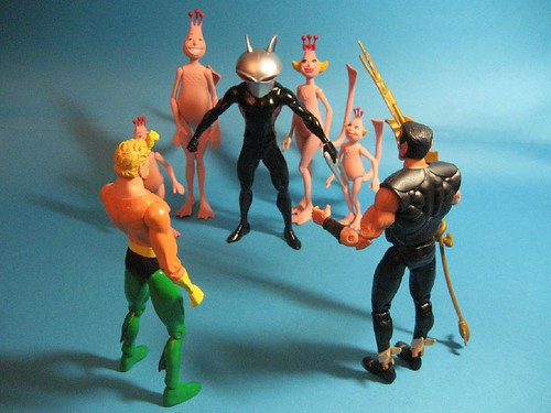 Black Manta with Sea Monkey Hostages