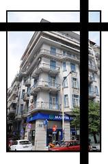 """MARFIN"" bank - Thessaloniki P.Mela branch, 5-5-2010, 11.00pm (F-GLADIATOR) Tags: street demonstration greece imf thessaloniki historicbuilding bereavement marfin ελλάδα θεσσαλονίκη δντ pmelastr"