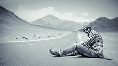 down to earth personality! ([s e l v i n]) Tags: travel india highway ladakh onroad traveler magnetichill selvin ©selvin