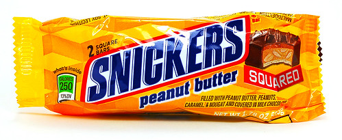 Snickers Peanut Butter Squared wrapper