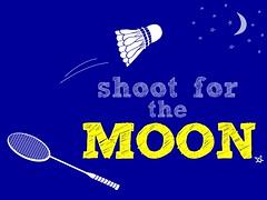30daysofcreativity : Day 3: Inspirational Badminton (littleneener) Tags: moon inspiration birdie space inspired inspirational badminton racket shuttlecock 30daysofcreativity