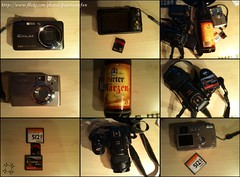 equipment of the day (panoramafan) Tags: beer fuji pentax equipment finepix bier s9500 iphone optio330 hirter maerzen exfc100 casioexfc100
