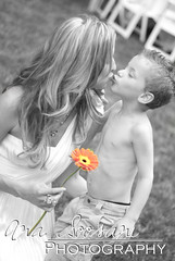 Mommy Kiss (Ana Soosani Photography) Tags: wedding bw white black flower color beautiful jessie photography kiss child dress aidan mother son prince nelson selective