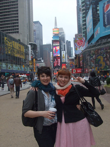kara and slu in time square