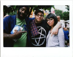 Thig, Pete, and Mirian (fotoflow / Oscar Arriola) Tags: street camera chicago film photo do picture fair photograph pete instant fujifilm division sharkula thig instax 210 mirian