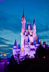 Mind Off In Fantasyland (Tom.Bricker) Tags: sunset nikon florida dusk disney disneyworld mickeymouse wdw waltdisneyworld themepark magickingdom goldenhour waltdisney orlandoflorida cinderellacastle colorfulsky disneyphotos wdwfigment tombricker goldenhourphotography
