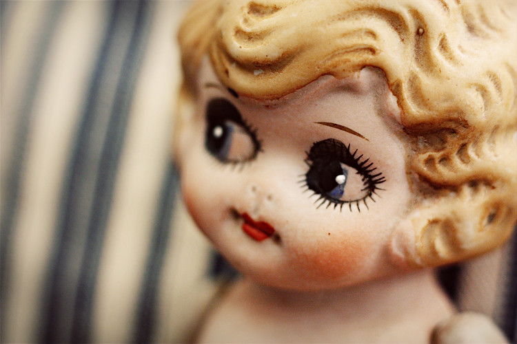 vintage ceramic doll
