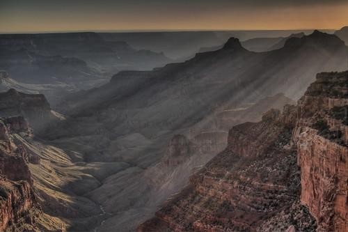フリー写真素材, 自然・風景, 谷, 岩山, グランド・キャニオン, アメリカ合衆国, アリゾナ州, 日光・太陽光線,
