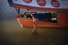 Bot Tambang (Hisham Salmin) Tags: river lumix waterfront panasonic sarawak kuching sungaisarawak hishamsalmin 20mm17pancake