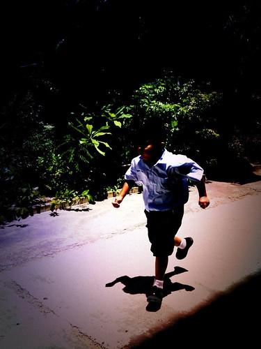 Runing boy
