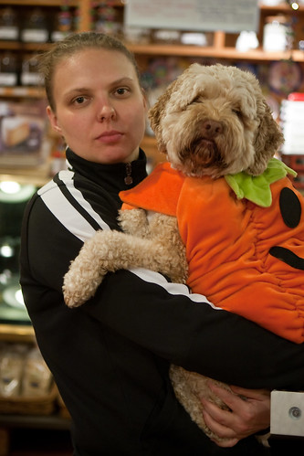 Sue Sylvester with Dog