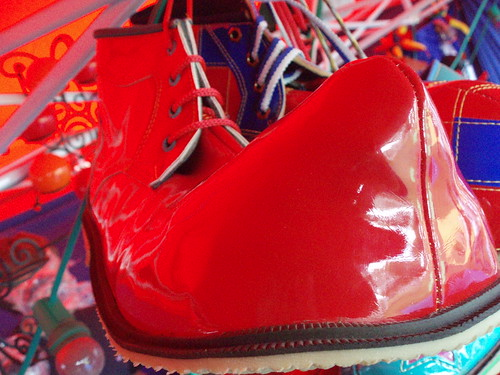 Red clown shoe