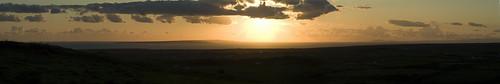Sunset from Doolin, Ireland looking over the Aran Isles