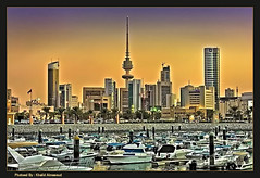 Evening - HDR (khalid almasoud) Tags: city colors marina buildings boats evening high nikon photographer dynamic towers kuwait range khalid hdr   8800       almasoud