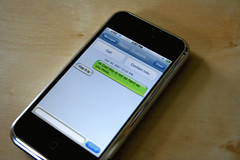 SMS: Text Messaging Gets Redesigned (pouwerkerk) Tags: apple phone cellphone cell instant att sms  texting messaging iphone