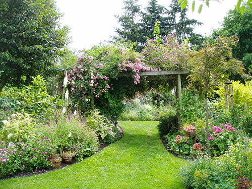 Cottage Garden with Arbor
