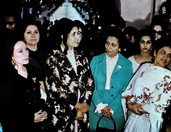 Mrs Gaddafi, Mrs Bhutto and other delegates at the Shalimar Gardens (Doc Kazi) Tags: pakistan history 1974 lahore oic gaddafi delegation nusrat bhutto 2ndislamicsummit