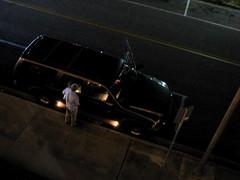 man peeing on his car (s myrland) Tags: man texas corpuschristi roadtrip peeing
