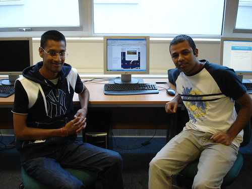 Adel & Vishal at UCL Lab