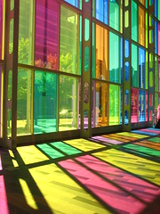 Palais des congres (Nicole Marti) Tags: light canada color window montreal stainedglass palaisdescongres montrealconventioncenter