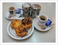 Caf e pasteis (TylerPix) Tags: portugal coffee caf lisboa lisbon belem nata lisbonne sucre pasteis cinamon canelle